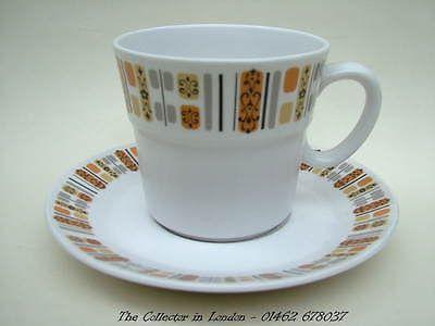 Noritake Brighton 915 Pattern Progression Series Tea Cups & Saucers Look in VGC