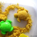 Taste Safe Moon Sand 2 cups brown sugar 2 cups cornstarch/flour 10 tbsp veg or olive oil