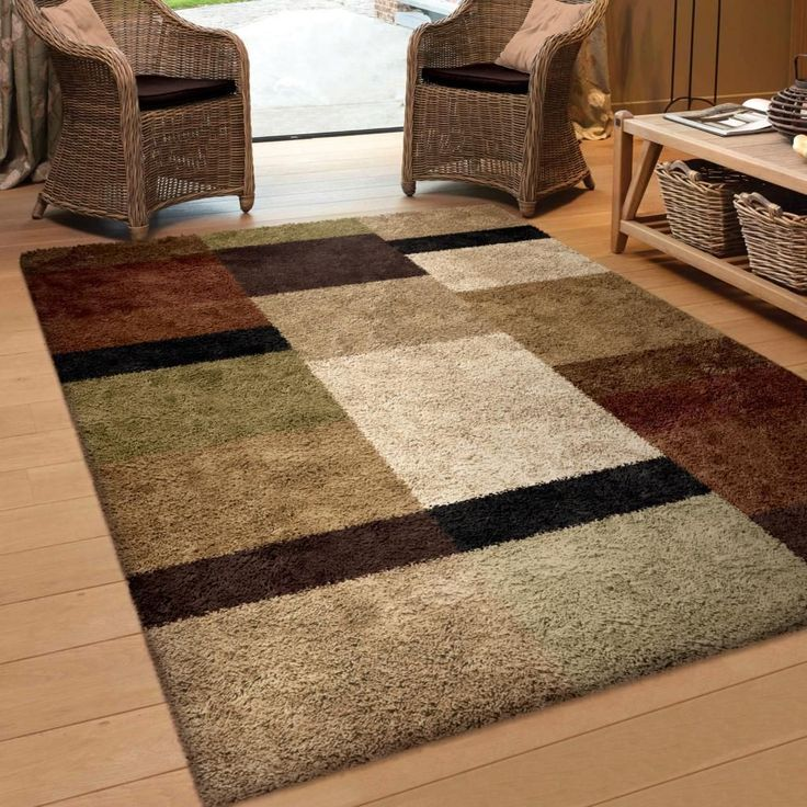 10 By 10 Rug Part - 15: Carolina Weavers Riveting Shag Collection Treasure Club Multi Area Rug (7u002710  X 10