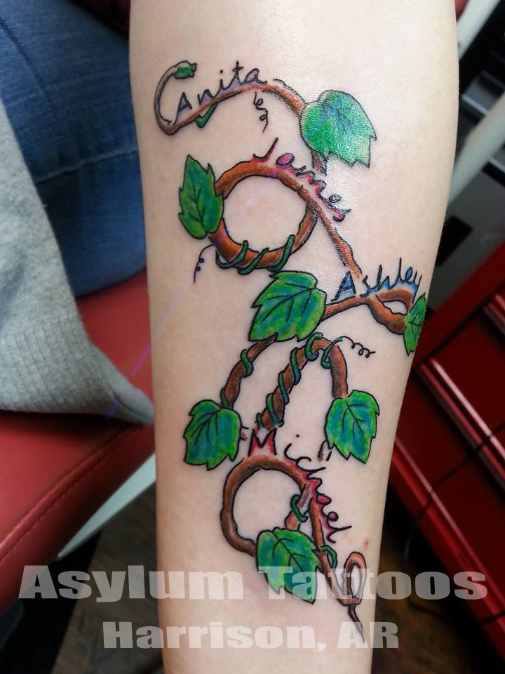 Best 25 family name tattoos ideas on pinterest tattoos for Name tattoos with color