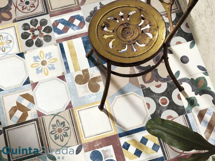 Un'incredibile scelta di cementine decorate e ben 11 colori rendono questa serie un concentrato di vivacità dal gusto retrò. Made in Italy e 3 formati.