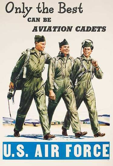 DP Vintage Posters - Only The Best Original American Air Force Recruiting Poster