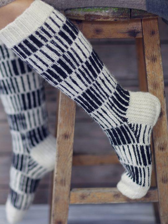 Sockor med lodräta ränder Novita 7 Bröder | Novita knits