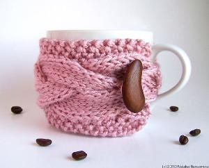 great idea! and cuteCups Cozy, Cups Of Coffe, Coffe Cups, Pastel Pink, Pale Pink, Coffee Cups, Coffe Cozy, Coffee Mugs, Coffee Cozy