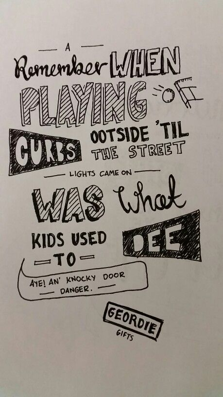 Geordie memories doodle