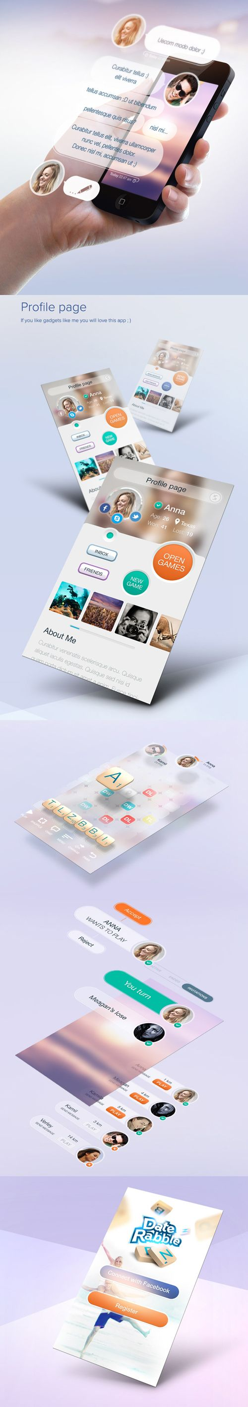 Game app UI Designs and Concepts for Inspiration