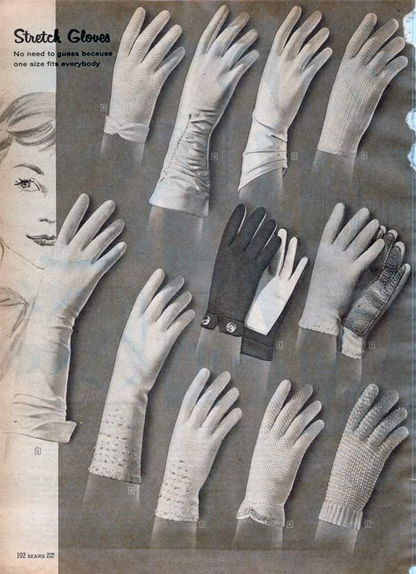 "New 50s #glove #styles also made the most of the latest in #knitting technology -> ""1950s Gloves: Etiquette, Styles, Trends & Pictures"""