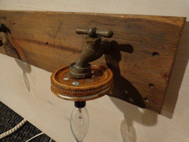 Primitive mason jar rustic bathroom vanity light fixture - Primitive bathroom vanity lights ...