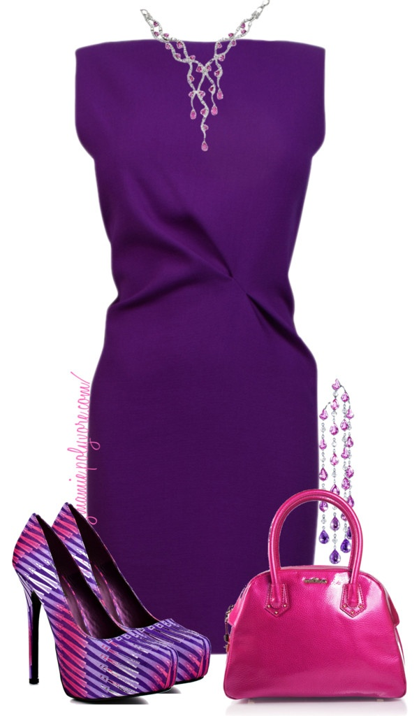 "Love the solid color accessorized with fun patterns!  ""Untitled #613"" by mzmamie on Polyvore"