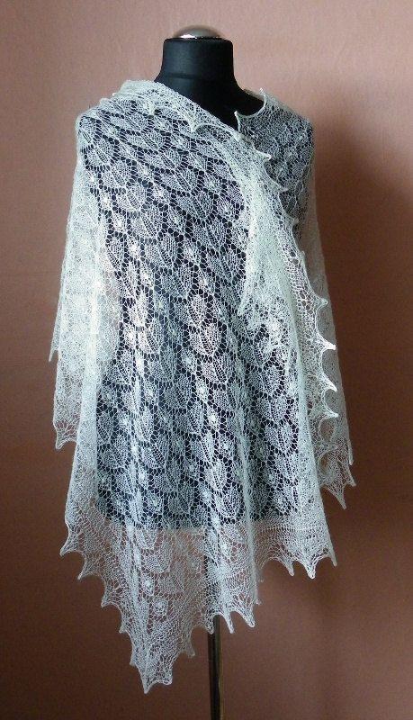 Haapsalu shawl, traditional Estonian lace shawl- CUSTOM ORDER. $136.00, via Etsy.