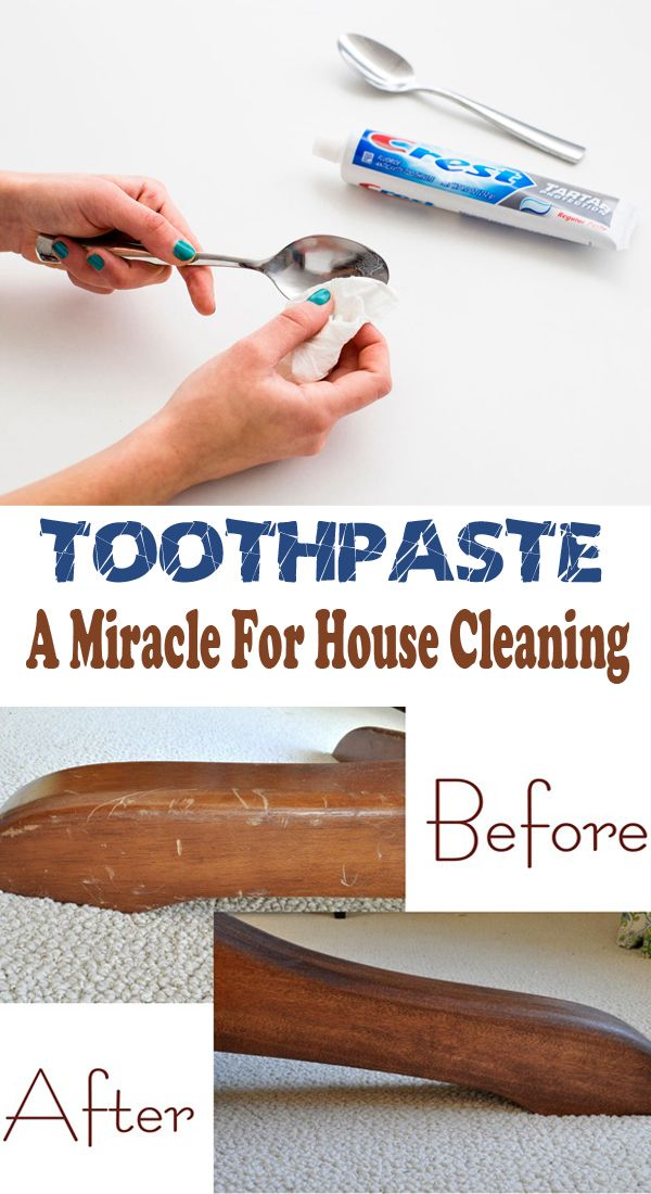 Toothpaste a miracle for house cleaning