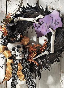 Learn Halloween decorating tips and tricks from Grandin Road and create a sophisticated Halloween display, with glamorous harvest and Halloween decorations.: