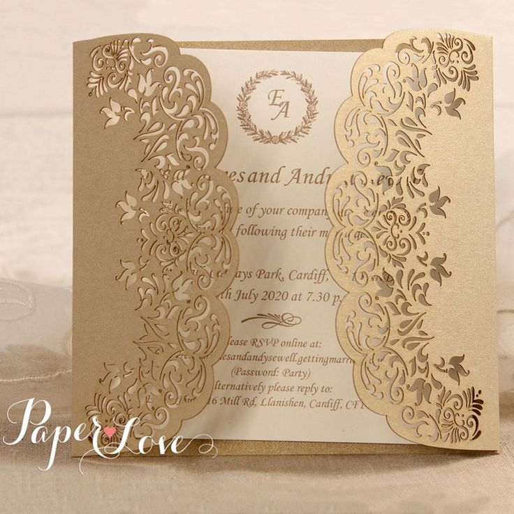 reply to wedding invitation m%0A Gatefold Laser Cut Flowers Day Evening Wedding by CardsPaperLove