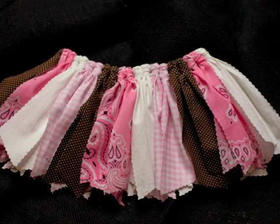 Infant to Child Sizes  Country Girl Scrap Tutu  Pink by SassyBDass