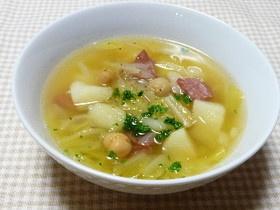 じゃがいもとひよこ豆のスペイン風スープ