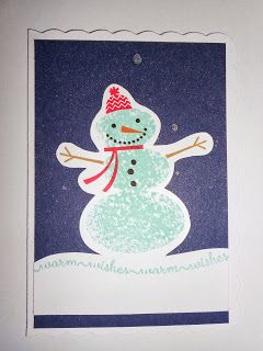 Stampin' Up! Snow Day  Snowman by Sarah Bell - stampinsnowflake.blogspot.co.uk