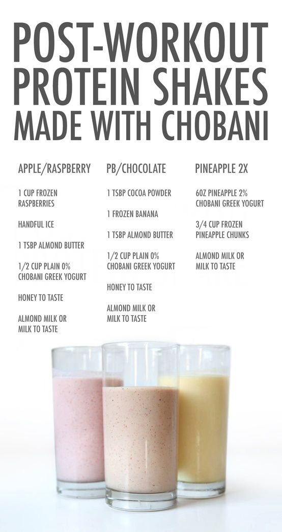 Perfect post workout smoothie examples!