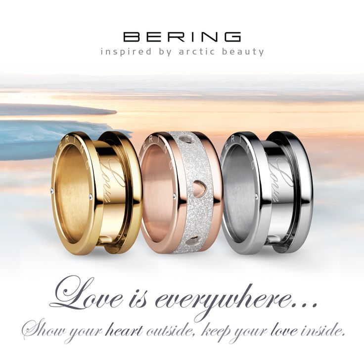 Love is everywhere; BERING jewellery; Arctic Symphony Collection; Rings; Twist & Change System