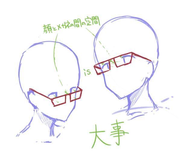 【眼鏡を描くときの注意と眼鏡の種類のやつ】Palmieさんにて担当させていただいた講座からです。 みんな描こうよ眼鏡っこ( ˘ω˘ )