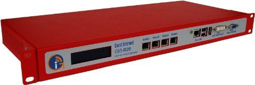 GIS-R20 Hotspot Gateway, 500 Users Advanced Firewall, PayPal & Credit Card, Dual WAN Fail-over, Core GIS Features by Guest Internet Solutions. $1044.98. Guest Internet - GIS-R20 Multi-WAN Hotspot gateway for businesses with up to 500 users. Save 30% Off!