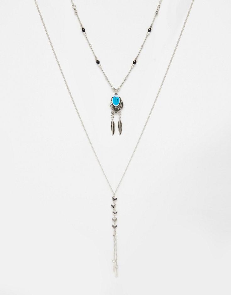 Immagine 1 di ASOS - Collana con pendenti a forma di frecce e piume