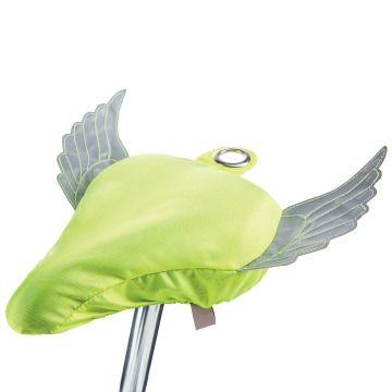 donkey products Sattelschutz mit reflektierenden Flügeln - Flying Bike, gelb