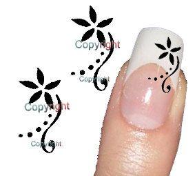50 Nail Art Flower 019  Decal sticker Tattoo Nail Art by Tarlidada, $4.00