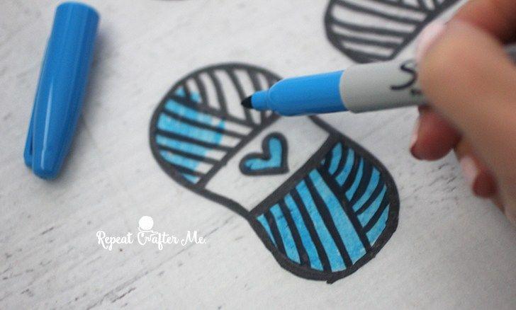 Shrinky Dink Skein Stitch Markers