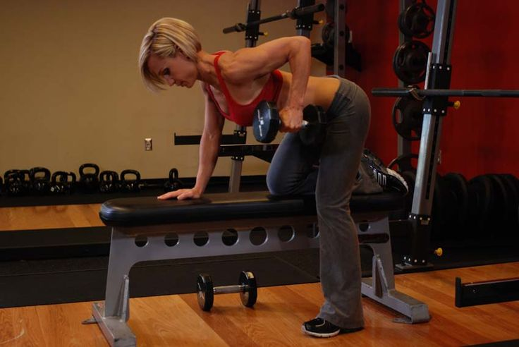 Back: One-Arm Dumbbell Row