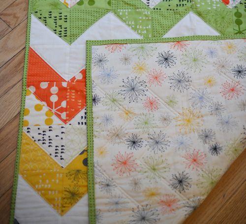 modern quilt idea... pretty colors