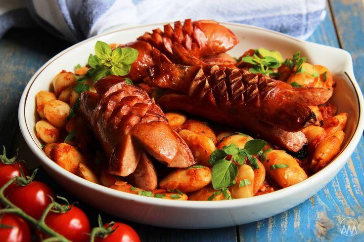 V kuchyni vždy otevřeno ...: Řecké pečené fazole ( a český špekáček )