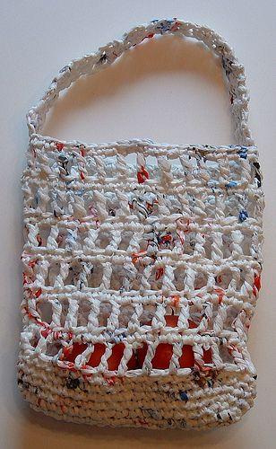 Crochet bag from plastic bags!!!!
