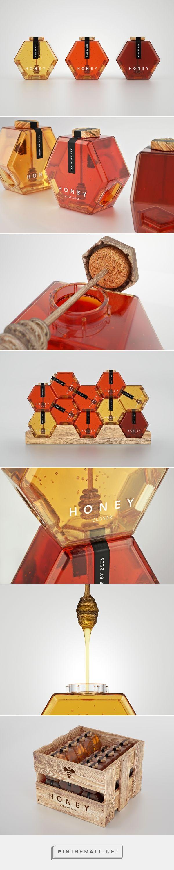 Hexagon Honey on Behance  Fivestar Branding Inspiration Gallery