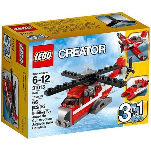 Đồ chơi LEGO 31013 Red Thunder – Máy bay thần sấm màu đỏ