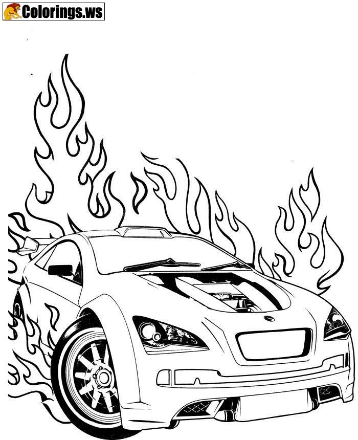 Race Car Coloring Page For Adults | Car Coloring Pages | The strong ...