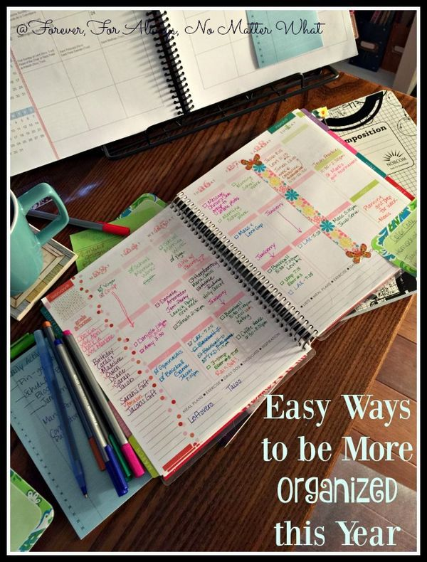 Easy Ways to be More Organized this Year