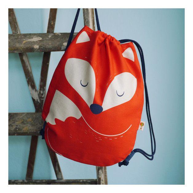 Turnbeutel mit Fuchsmotiv für Kinder / gym bag with fox illustration for kids by Tell-Me via DaWanda.com