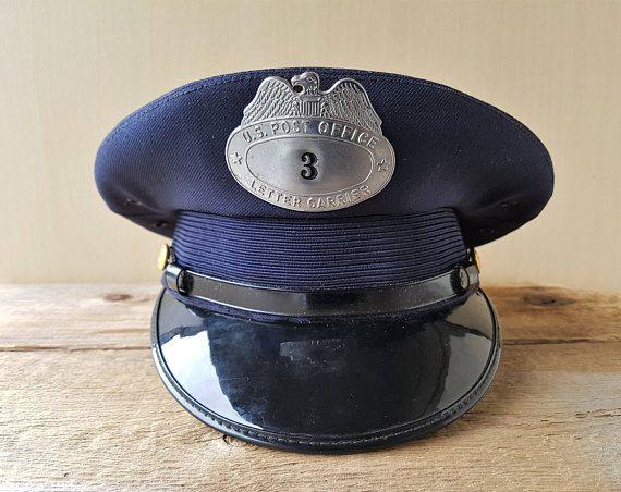 Vintage 50s U.S. Post Office Letter Carrier Dress Hat Mailman