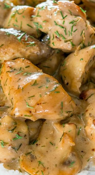 Chicken and Mushrooms in Creamy Dill Sauce                                                                                                                                                                                 More