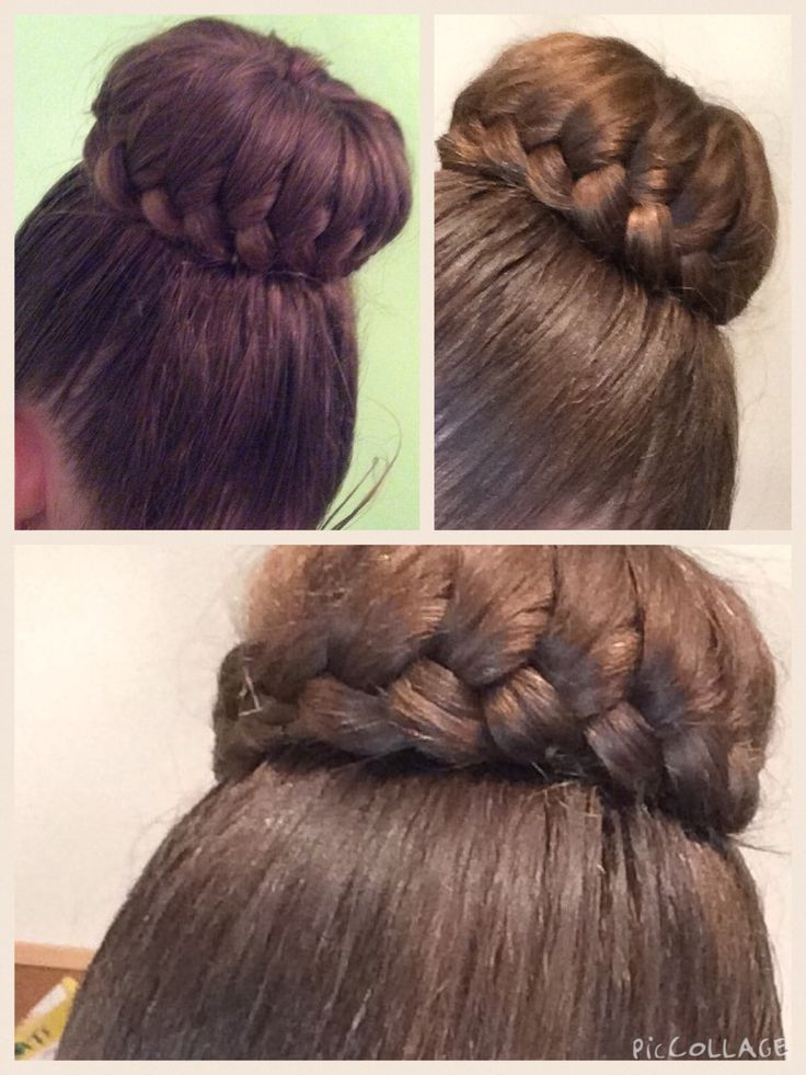 French lace braided bun