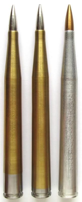 Special 7.92 x 145 anti-tank rounds for BRNO anti-tank rifle experimental, 1930s (Czechoslovakia)