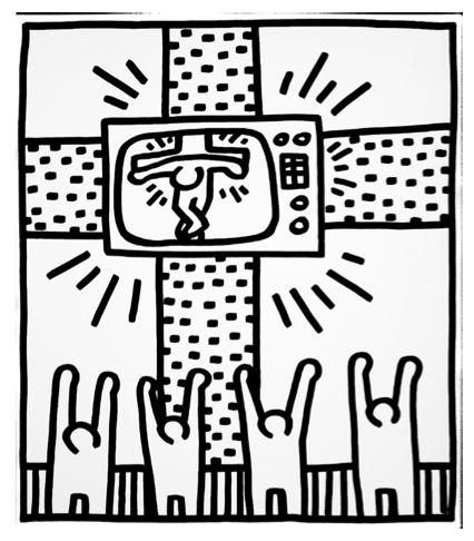 TV - Cross by Keith Haring https://artsation.com/en/shop/keith-haring