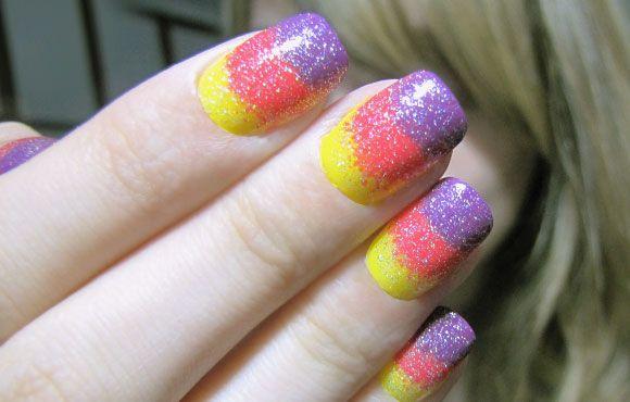 Tutorial de nail art: unhas coloridas em camadas!