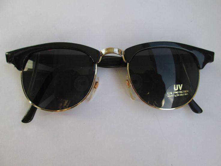 1 Retro Sonnenbrille im Wayfarer Stil schwarz 50er 60er Brille Vintage 50s 60s