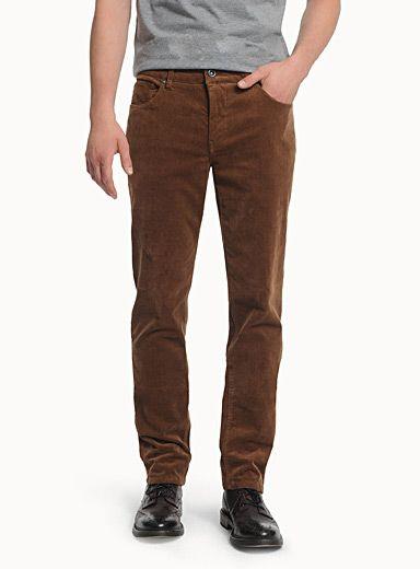 Pantalons velours c tel coton et laine pour homme en - Pantalon velours cotele homme ...