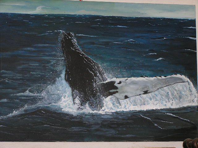 humpback whale acrilic on canvas jun 2013 #paola consani