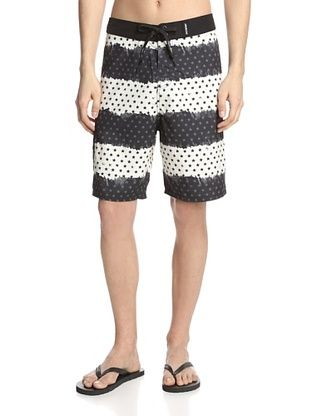 77% OFF Maui & Sons Men's Stars and Stripes Board Shorts (Black)