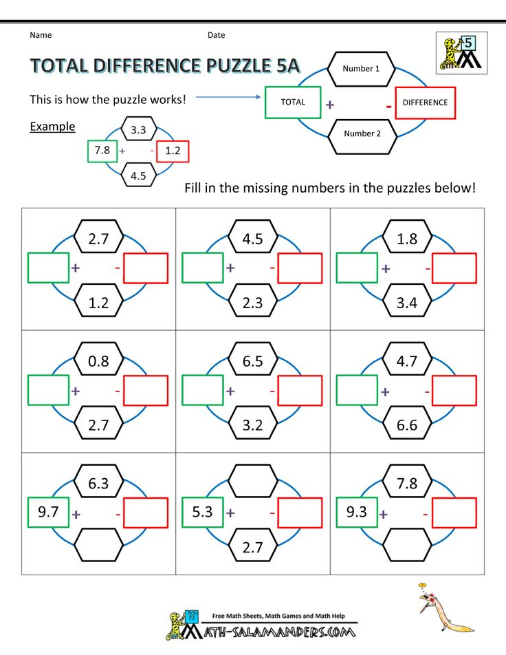 19 best Fifth Grade Math Puzzles images on Pinterest | Math puzzles ...