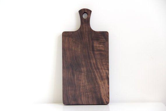 Walnut board with handle