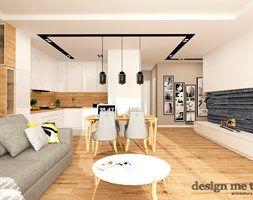 Aranżacje wnętrz - Salon: GRAZIOSO APARTAMENTY - Średni salon z kuchnią z jadalnią, styl nowoczesny - design me too. Przeglądaj, dodawaj i zapisuj najlepsze zdjęcia, pomysły i inspiracje designerskie. W bazie mamy już prawie milion fotografii!